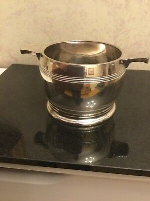 Vintage Silver Plated Sugar Bowl By Walker & Hall