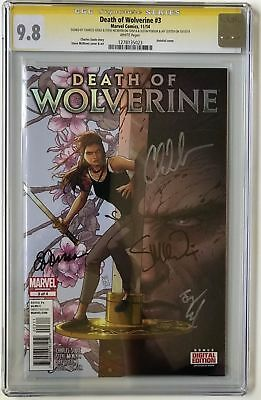 DEATH OF WOLVERINE 3 CGC SS 9.8 Holofoil SIGNED x 4 Soule McNiven Leisten Ponsor