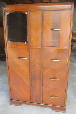 """VINTAGE ~ Chifforobe with Mirror ~ For Use """"AS IS"""" or """"As a Restoration Project"""""""