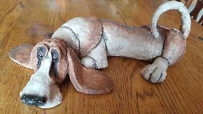 A Breed Apart Country Artists  Loafer Basset Hound Dog Figure