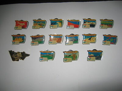 16 x OLYMPIC GAMES 2000 TORCH RELAY PINS / VICTORIA