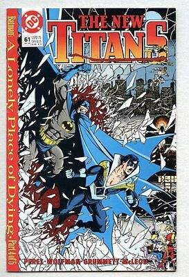 New Teen Titans #61-1989 fn+ George Perez Lonely Place Of Dying Batman Two-Face