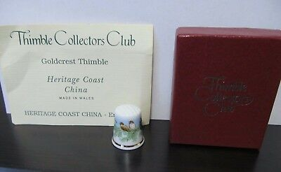 Goldcrest Thimble Bone China Heritage Coast from the Collectors Club TCC