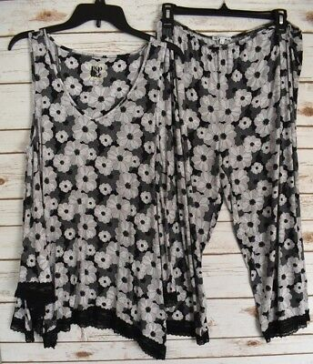 Pip & Vine by Rosie Pope Womens Sleepwear Pajama Set Floral Size Large - NEW