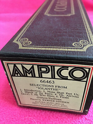 AMPICO piano roll 66463 gilbert/sullivan SELECTIONS FROM IOLANTHE werner janssen