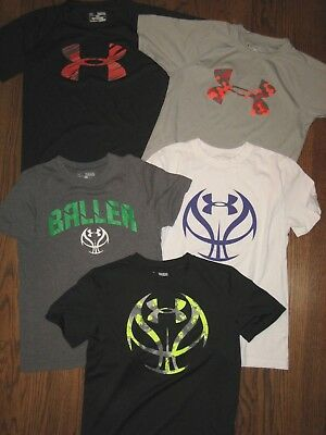 huge lot boys shirts tops All Under Armour loose heat gear YMD JM medium
