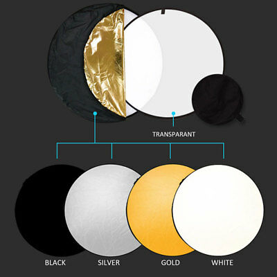 Portable 5in1 Photography Reflector 60cm Photo Light Collapsible Panel Diffuser