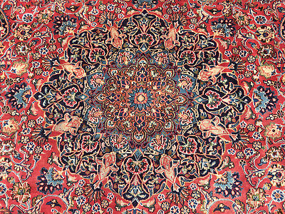 9x12 HAND KNOTTED PERSIAN RUG IRAN WOOL AREA RUGS red blue navy 10x12 woven made