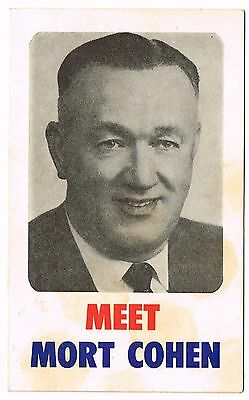 Meet Mort Cohen Bligh Electorate 1960s State Election Voting Advertising