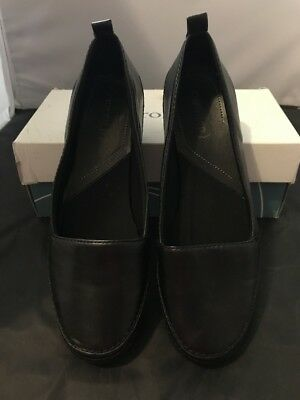 Brand New Womens Ladies Shoes Sz 10 Eurostep Leather Loafer Slip-On Black Kirby