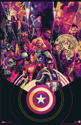 SDCC 2018 Mondo Marvel Cinematic 10th Anniversary Variant Poster Signed #66/325