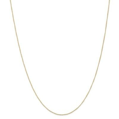 14k Yellow Gold .5 mm Carded Curb Link Chain Necklace 16 Inch