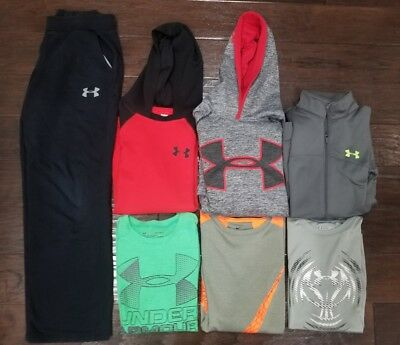 Under Armour & Nike Lot Boys Size Large