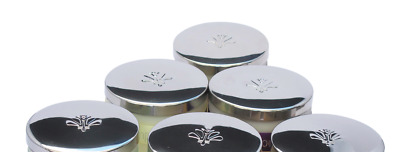72 x Small Metal Candle Lids