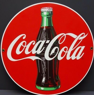 Ande Rooney Coca~Cola Porcelain Advertising Sign