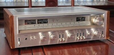Vintage Pioneer SX-780 Silver Face Plate Stereo Receiver Powers On and Lights Up