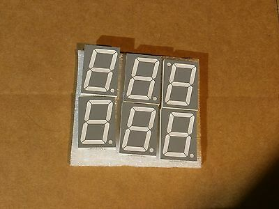 6 pcs Display Module 7-Segment Single Character HNS15200 SS07038ROHS D15011A/B