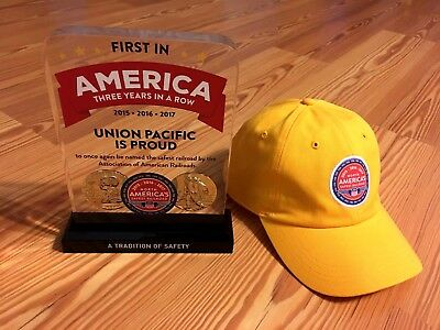 NEW 2 Pieces of UNION PACIFIC A TRADITION OF SAFETY AMERICA THREE YEARS IN A ROW