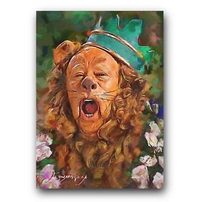 The Wizard of Oz Cowardly Lion #3 Sketch Card Limited 24/50 Edward Vela Signed