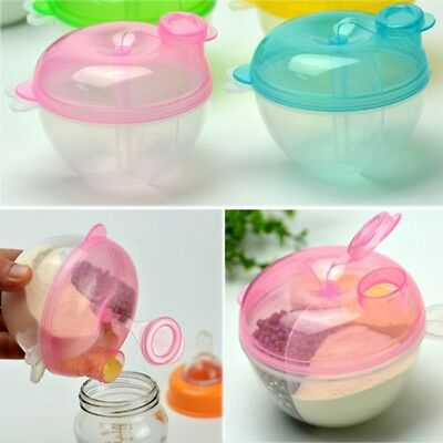 Baby Milk Box Powder Dispenser Container 4 Layers Storage Formula Feeding EU