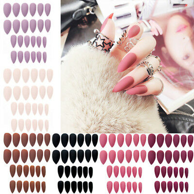 24pcs Fashion Matte DIY Casual Nail Tips Press On Artificial Fake Nail Mixed HOT