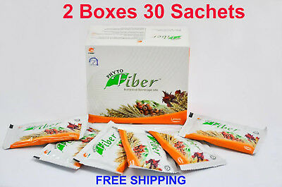 2 Boxs Phyto Fiber Detox Botanical Beverage Drive Slime Fat Toxins Good Health