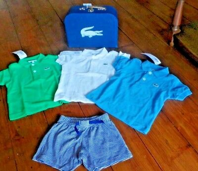 New Lacoste 3 Polo shirts and shorts 1yr in case