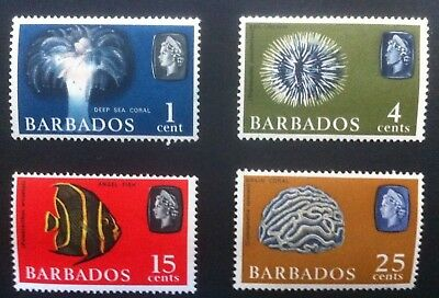 Barbados 1966 Short Set SG342, 345, 350 & 351. Mint Never Hinged/MNH