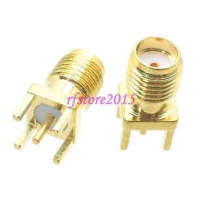 1pce Connector SMA female jack solder PCB mount straight RF COAXIAL