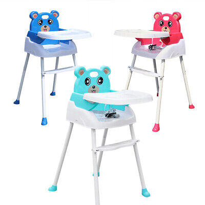 4 In 1 Baby High Chair Foldable Baby Feeding Height Adjustable Safe Chair