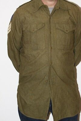 British Army 1952 Shirt British Commonwealth Forces Us 24Th Infantry Division