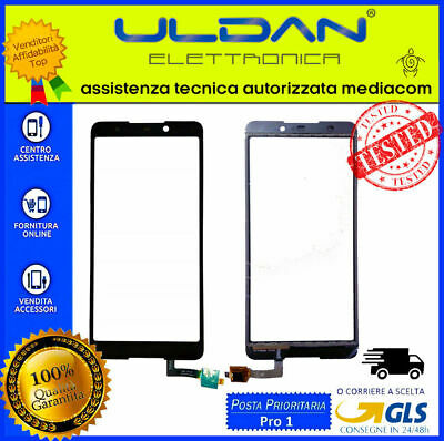 TOUCH SCREEN VETRO Per WIKO LENNY 5 VETRINO DIGITIZER NERO 5.7''