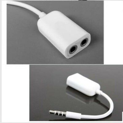 w 1 to 2 Stereo Audio Headphone Headset Earphone Splitter Cable for iPhone 3.5mm
