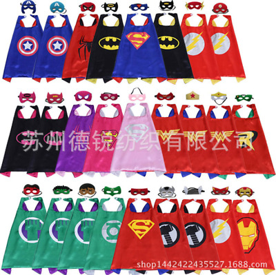 Kids Birthday Party Party Superhero Cloak Cape (1 Cape + 1 Mask) Halloween Party