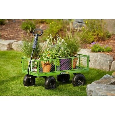 Gorilla Utility Cart 800 lb Capacity Yard Wheelbarrow Garden Hauling Steel NEW