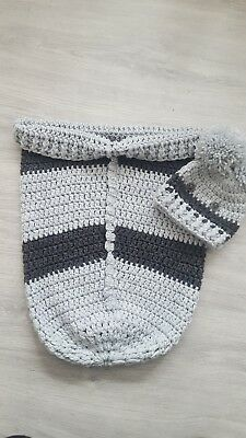 Unisex Baby Cocoon Blanket And Hat