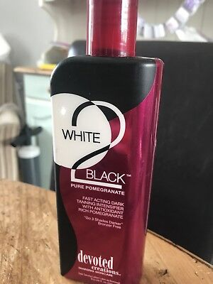 Devoted Creations White 2 Black Pure Pomegranate Sunbed Tanning Lotion 250ml