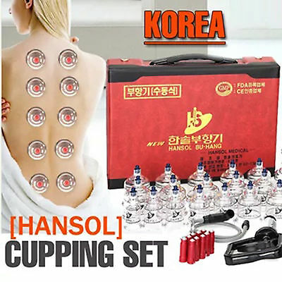 HANSOL Professional Chinese Cupping Therapy Cup Vacuum Massage Kit Body Suction