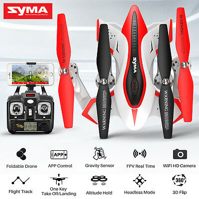Foldable RC Quadcopter Drone Syma X56W WiFi Camera FPV Altitude Hold Helicopter