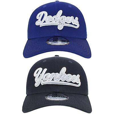 New Era 39THIRTY Cap Flickscript Dodgers Yankees Fitted Baseball Cap Dad Hat