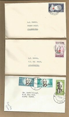 South Africa: 3 old unofficial FDC +  old block 8 MNH + 20 other used.(Ref 994)