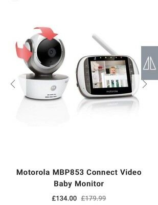 Motorola MBP853 Connect Wifi HD Digital Video Baby Monitor.