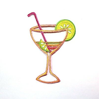 Margarita Cocktail alcohol Drink Party DIY Clothing Shirt Applique Iron on Patch