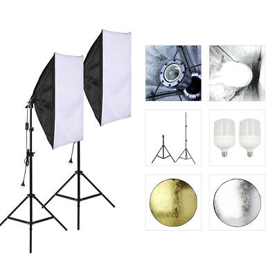 Softbox Lights Photography Studio Video Kit T-LED Lighting Kit  with Reflector