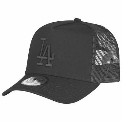 New Era Adjustable Trucker Cap - Los Angeles Dodgers schwarz