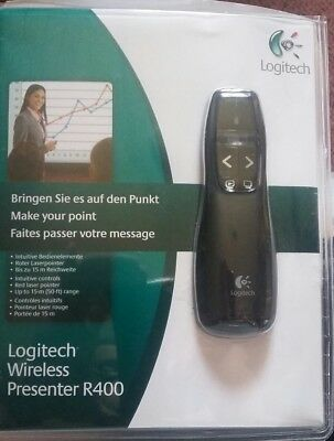 Logitech R400 Wireless Presenter - schwarz - OVP