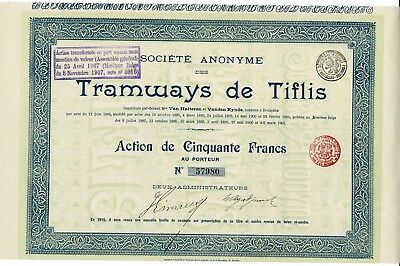 Tramways de Tiflis - 1901 - Action de 50 francs
