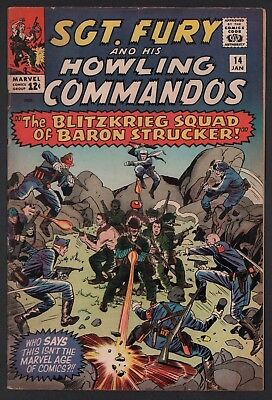 Sgt Fury & His Howling Commandos #14 VG 4.0 Cream to Off White Pages