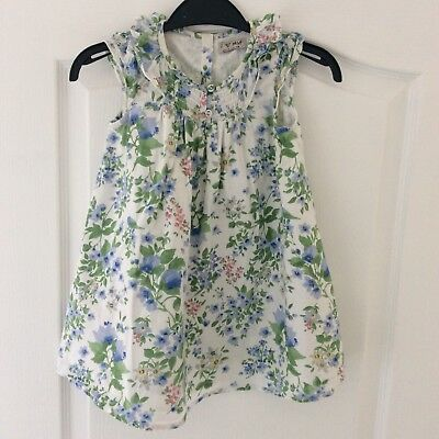 White Floral Dress From Next 12-18 Months