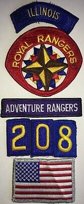 Royal Rangers Patches And Tabs Lot Of 5 Used (B28)